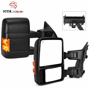 Yitamotor Pair Power Towing Mirrors Heated For 08 16 Ford F250 F350 Superduty