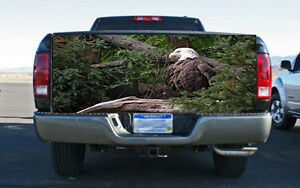 American Bald Eagle Freedom Truck Tailgate Wrap Vinyl Graphic Decal Sticker Wrap