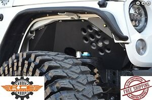 Ace Engineering Alum Front Inner Fenders Black W o Lights 07 17 Jeep Wrangler Jk