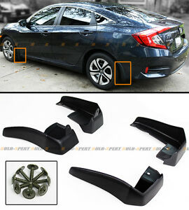 4pcs Front Rear Splash Guard Mud Flaps For 16 2021 10th Gen Honda Civic Sedan