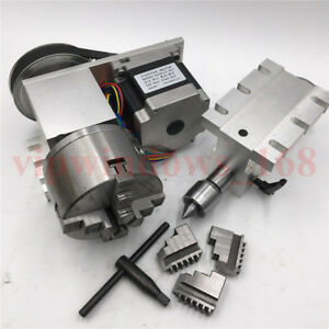 Tailstock rotary Axis 3jaw 100mm Chuck Cnc Router 6 1 4th Rotational Axis Kit