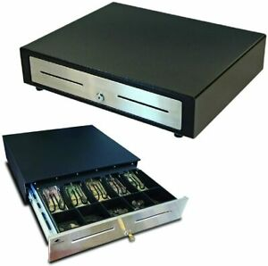 Apg Vasario 1915 Cash Drawer W 320 Multipro Interface Dual Media Slots Black