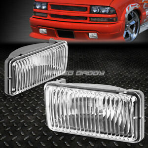 For 98 04 Chevy S10 blazer Gmt325 Clear Lens Oe Bumper Driving Fog Light Lamp