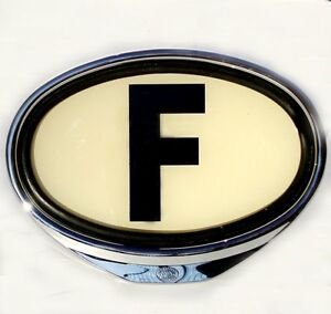 F Sign Illuminated France Country Sign 2cv Swf Porsche Vw Hotrod Ford Aac116