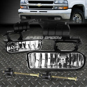 For Chevy 99 02 Silverado 06 Tahoe Oe Style Clear Lens Driving Fog Light Lamp
