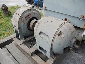 30 Kw General Electric Ac To Dc Motor Generator 250 Volts 120 Amps