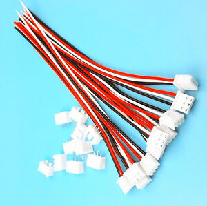 10sets Xh2 54 3pin 1007 24awg Single End 15cm Wire To Board Connector