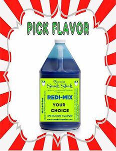 Snow Cone Syrup Any Flavor 1 Gallon Jug Buy Direct Licensed Mfg