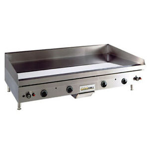 Anets A24x48 Countertop Gas Griddle With Manual Controls