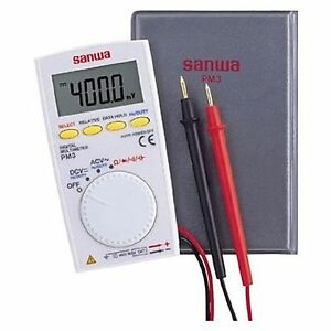 Sanwa Digital Multimeter Pm 3 Pocket size Free Shipping New From Japan