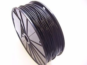 Black Vinyl Coated Wire Rope Cable 3 32 1 8 7x7 250 Ft Reel