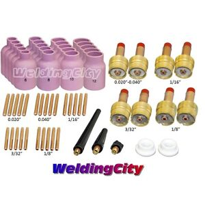 58 pcs Tig Welding Torch 9 20 25 Kit 040 1 8 Large Gas Lens Tak48 Us Seller
