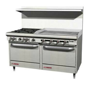 Southbend S60ac 4tl 60 S series Gas Restaurant Range W Griddle