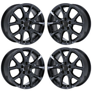 17 Jeep Cherokee Latitude Black Chrome Wheels Rims Factory Oem 2018 Set 4 9130