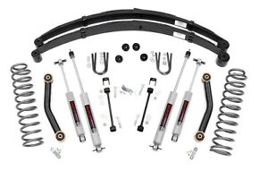 Rough Country 4 5 Lift Kit W rear Springs shocks 84 01 Jeep Xj Cherokee 633n2