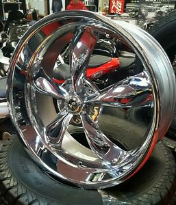 22x9 5 American Racing Shelby Chrome Torque Thrust 30 Mustang 2005 Up