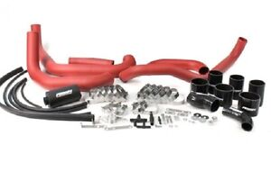 Perrin Front Mount Piping Red Boost Tubes W Black Hoses For 08 14 Wrx