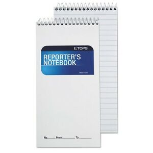 Tops Reporter s Spiral Gregg Ruled Notebook 8030