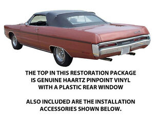 Plymouth Fury Iii Vip Sports Fury Convertible Top Diy Package 1969 1970