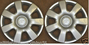 2 New Wheel Covers Fits Toyota Camry 15 Rim Hub 2000 2012 Wheelcover Corolla
