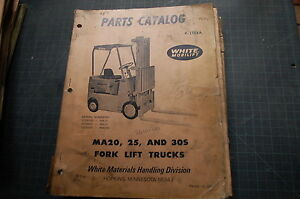 White Ma20 Ma25 Ma30s Forklift Parts Manual Book Catalog Spare List Owner Truck