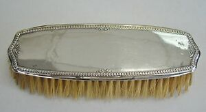 Foster Bailey Sterling Silver Backed Clothes Brush 4819 No Mono Item 3782