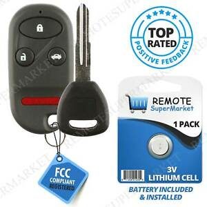 Replacement For Honda 1998 2002 Accord 1997 2001 Prelude Remote Car Key Fob Set