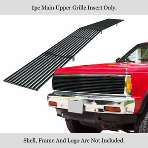 Fits 1991 1993 Chevy S 10 91 94 Blazer Main Upper Stainless Black Billet Grille