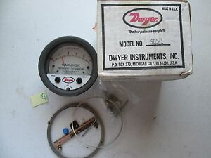 New In Box Dwyer 605 1magnehelic Prssure Indicating Transmiter Gauge 147