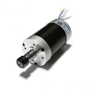400w Er11 Brushless Spindle Motor Air Cooled 24v Dc 12000rpm High Speed Cnc