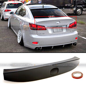 For 06 12 Is250 Is350 Isf Unpainted Wd W Style Abs Rear Trunk Lip Wing Spoiler