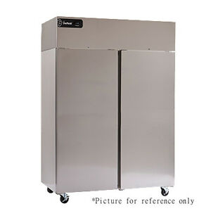 Delfield Gbsf2p sh Two Section Reach in Freezer With Solid Half Height Door