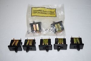 Lot Of 7 Genuine Bunn o matic Replacement Toggle Power Switches