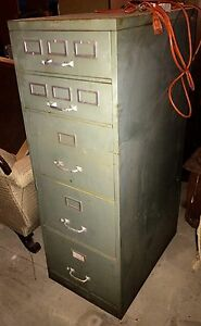 Vintage Old Adelphia Filing Cabinet Local Pa Pick Up Cool Industrial Piece