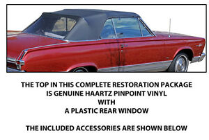 Plymouth Valiant Signet Convertible Top Do It Yourself Package 1965 1966