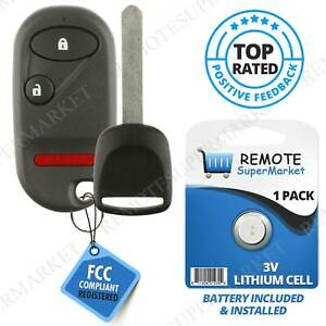 Replacement For Honda 2003 2004 2005 Civic Pilot Remote Car Key Fob 3b Set