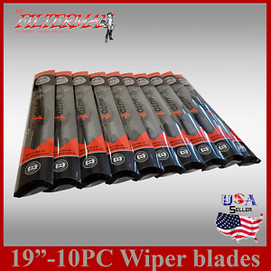 1box 10pc 19 Front rear Premium Jhook Bracketless Windshield Wiper Blades