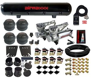 Air Ride Kit For 58 64 Chevy Impala Valves 7 Switch 580 Chr Air Compressors Tank