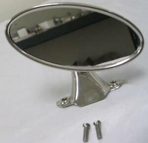1941 1948 Ford Car 1942 1952 Pickup Truck Rear View Mirror Stainless Oval