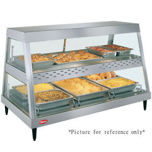 Hatco Grhdh 3pd Dual Countertop Heated Display Case With 3 Qt Humidity Capacity