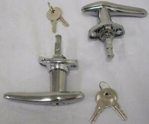 1930 1931 Ford Model A Closed Car Outside Locking Door Handles Chrome Nice Pair