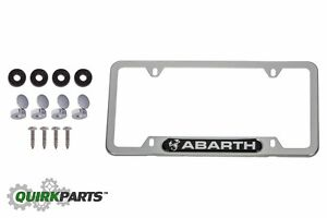 Oem New Mopar Polished License Plate Frame Hardware 2013 2017 Fiat 500 Abarth