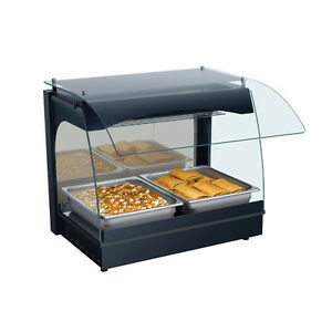 Hatco Grcmw 1 Curved 22 1 8 Wide Single Deck Countertop Display Warmer