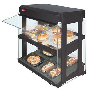 Hatco Grhw 1sgds Dual Slanted Shelf Countertop Display Warmer With Sneeze Guard