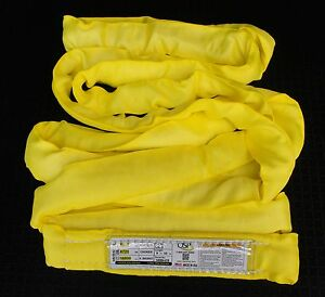 1 usa 20 Yellow Endless Round Slings Lifting Sling Crane Rigging Hoist Sling