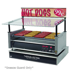 Star 45sg g Hot Dog Grill Sneeze Guard Glass Canopy