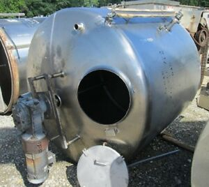 Used 1 100 Gallon Stainless Steel Mix Tank W 3 Hp Mixer Drive Slope Bottom In Nj