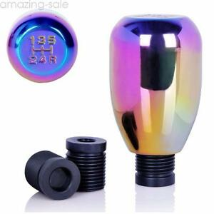 5 Speed Rainbow Manual Gear Shifter Stick Car Shift Knob Lever Nob Universal