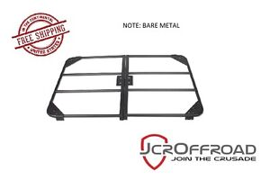 Jcr Offroad Base Utility Roof Rack Bare Metal For 1984 2001 Jeep Cherokee Xj