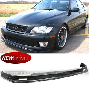 Fits 01 05 Is300 Unpainted Mu Style Pp Polypropylene Front Bumper Lip Bodykit